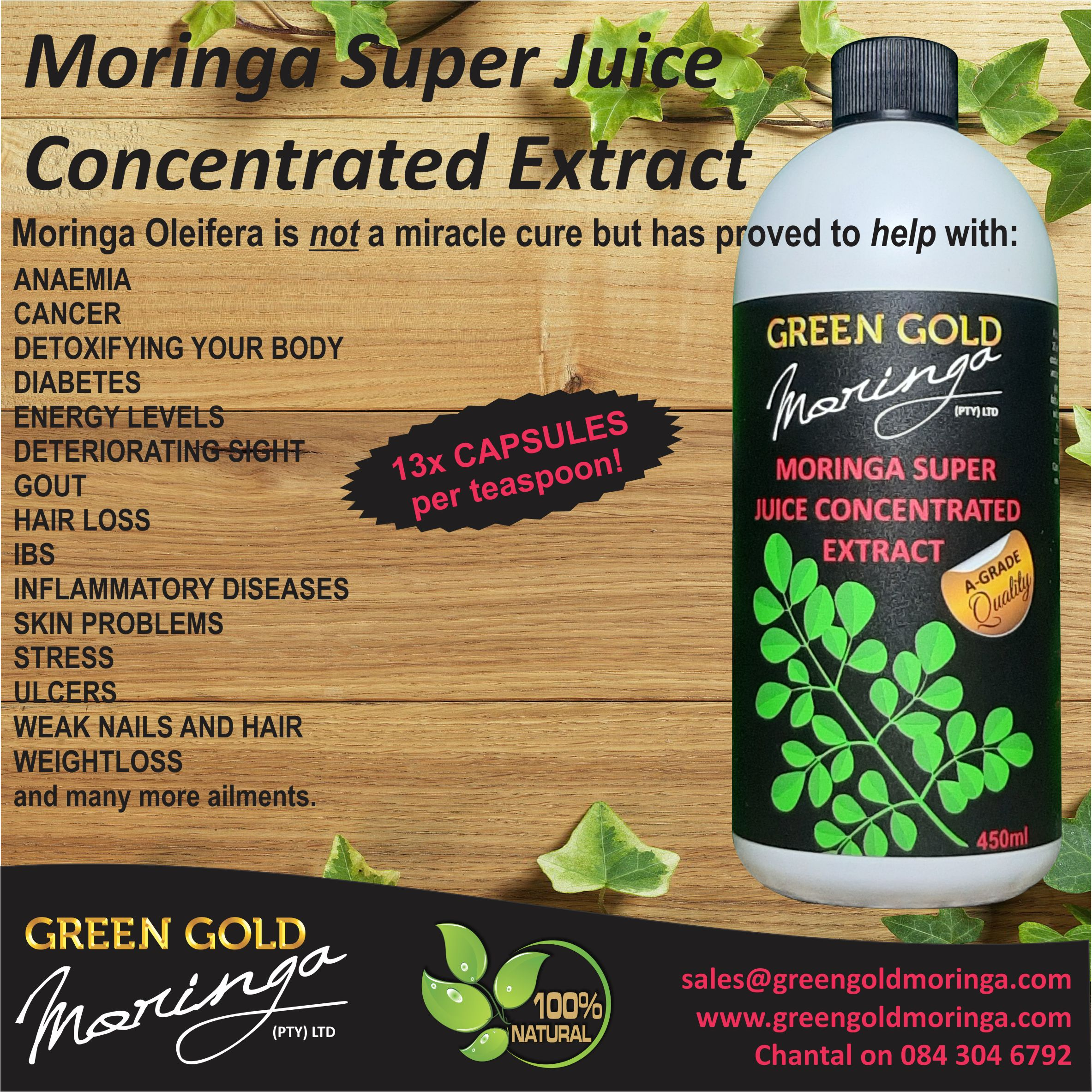 MORINGA SUPER JUICE CONCENTRATED EXTRACT NOW AVAILABLE